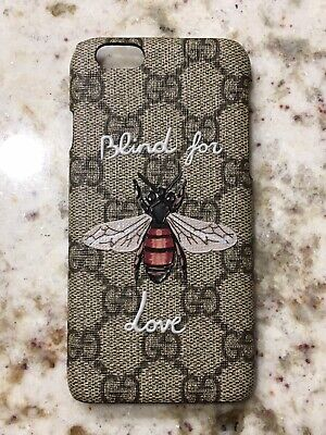 Gucci Monogram GG Blind For Love Bee iPhone 6s Phone Case In Excellent Condition