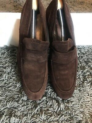VERSACE £349 RRP BROWN SUEDE LEATHER LOAFERS SIZE 11 UK 45 EU 12 US V900079