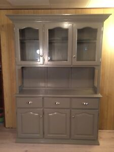 Refinishes dining hutch