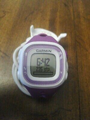 Garmin Forerunner 15 GPS Womens/Girls Running Sport Watch Violet/Purple-charger