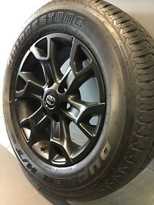"""TOYOTA HILUX TRD MY17 18"""" BLACK GENUINE ALLOY WHEELS AND TYRES Carramar Fairfield Area Preview"""