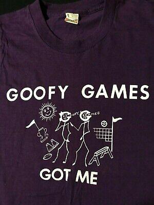 Vintage 80s Goofy Games Got Me T-Shirt Funny Picnic Party Badminton  - 80s Party Games