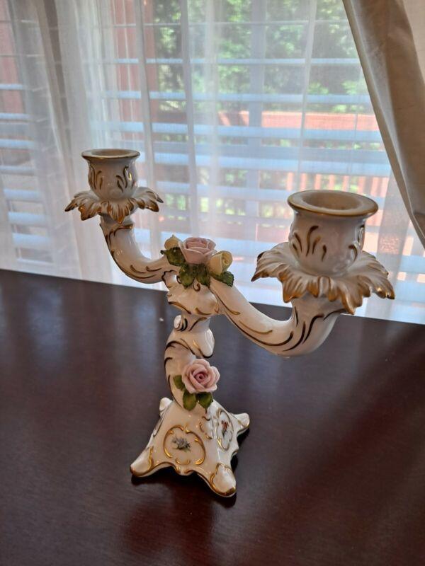 Vintage AK Kaiser Germany Porcelain Candle Holder