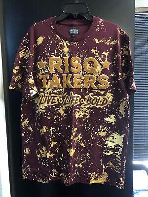 Vintage Men T-Shirt RISQ TAKERS Clothing XL Live Life (Risk Takers Clothing)