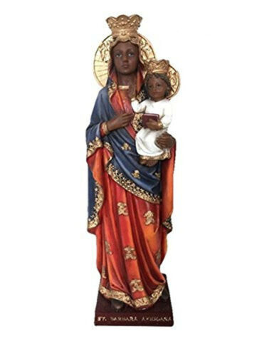 12 Inch Saint St Barbara Africana Santa Statue Figurine Figure Religious Decor