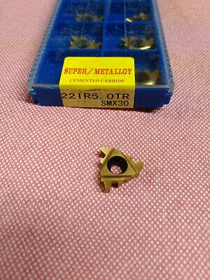 1pc 22ir5.0tr Smx30 Carbide Insert For Threading Turning Tool Boring Bar Tr5.0