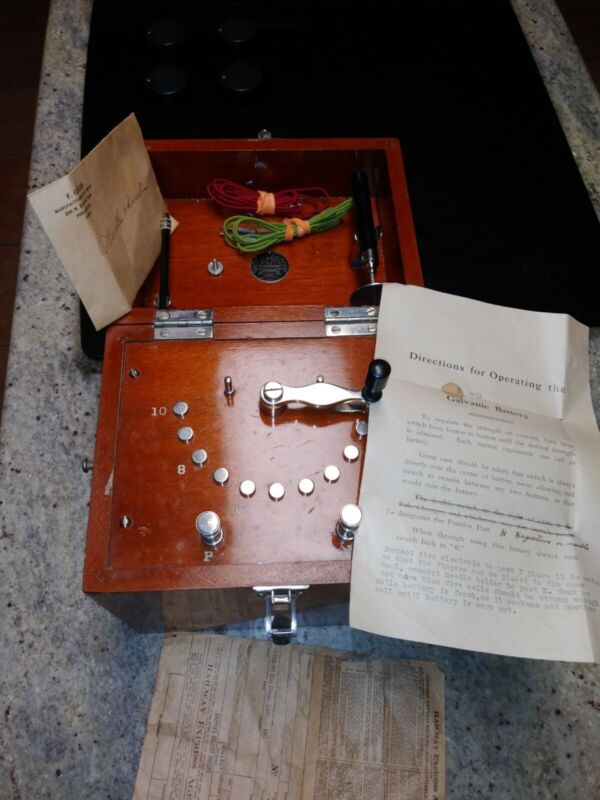 Antique F. Geiger Quack medical device Philly in case *