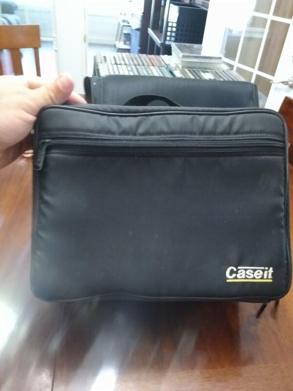 Vintage Case It BMI CD Case Holder Organizer Holds 30 CDs Black Logic