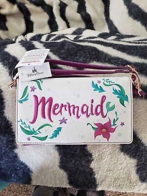 Disney Parks Princess Mystique Ariel ''Mermaid'' Crossbody Wallet New with Tags