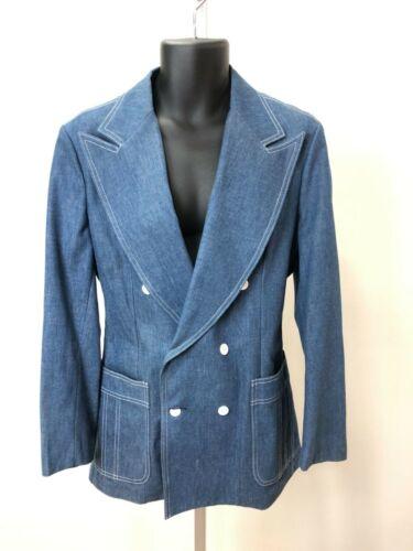 Vintage1970s Beautiful Lee Denim Leisure Suit Style Wide Collar Jacket