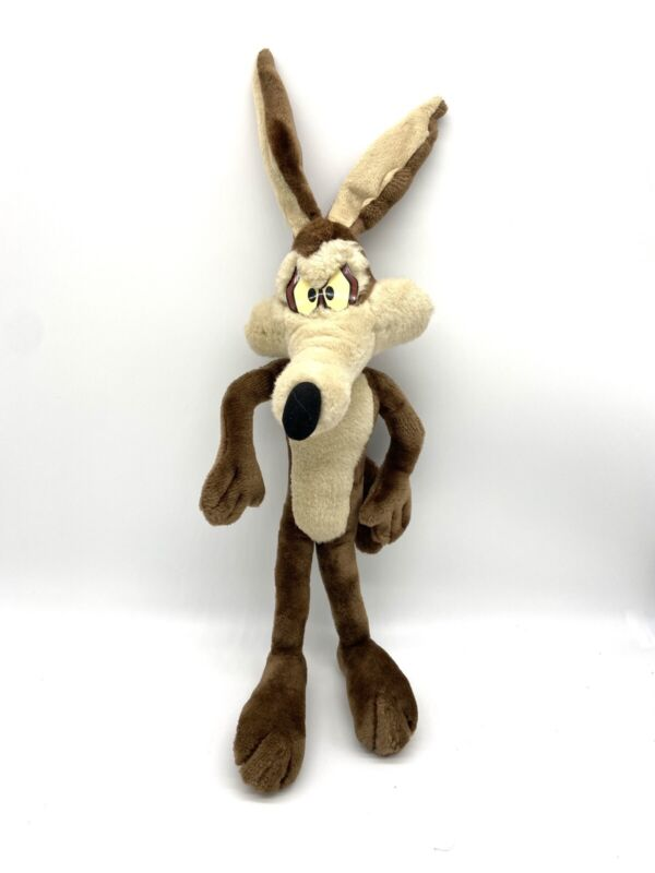 "21"" Vintage Posable Wile E Coyote Plush Rare Warner Bros Looney Tunes STANDS"