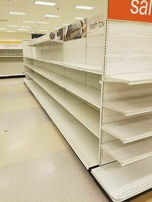 Double Sided Retail Gondola Shelving 40 Sections