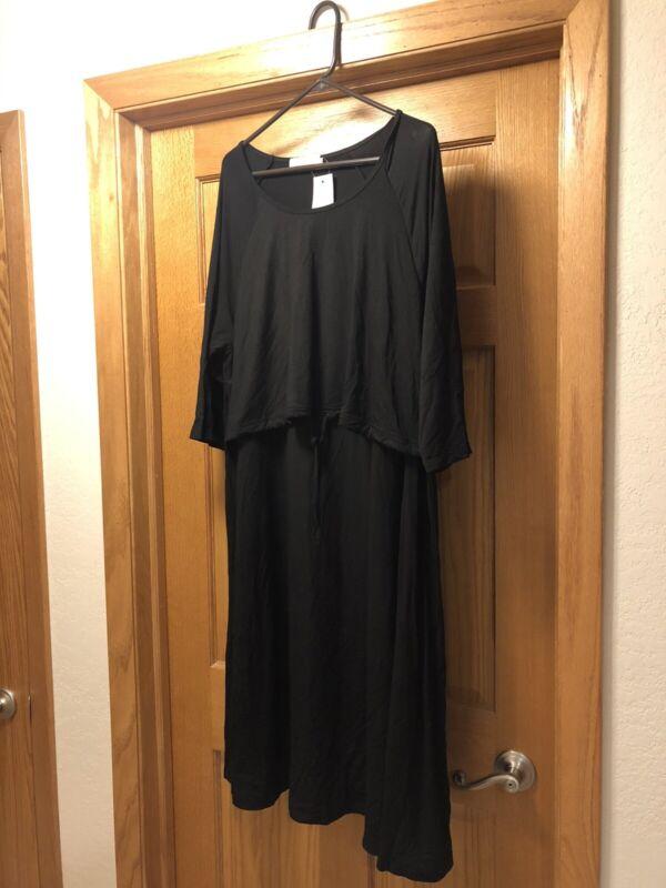 Latched Mama Nursing Dress Black 2x New