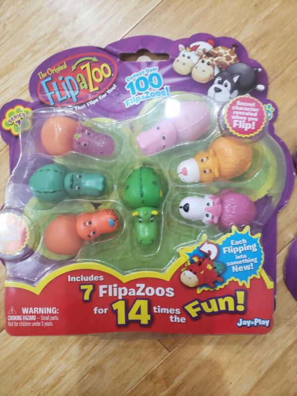 Flipazoo Mini Figures Toy 7 pack Series 1 New Flip A Zoo 2 in 1 Collectibles