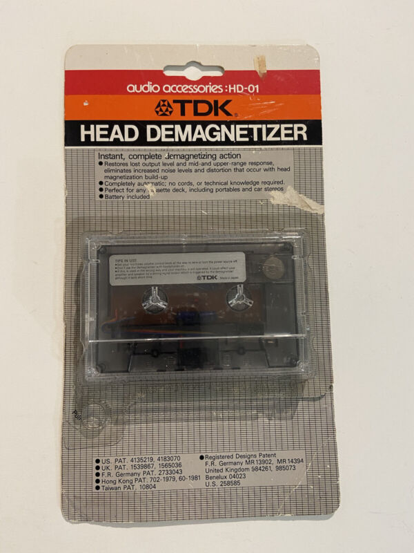 TDK Head Demagnetizer HD-01. Vintage