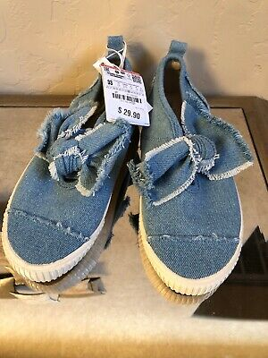 Zara Kids girls Shoes Size 33/ US 1.5 Brand New With Tags, Denim Slip Ons