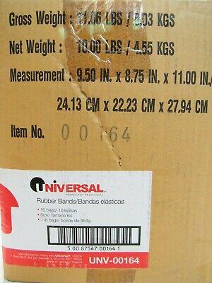 10 Lb Casebox 10 -1 Lb Bags Universal Rubber Bands Size 64 Unv-00164