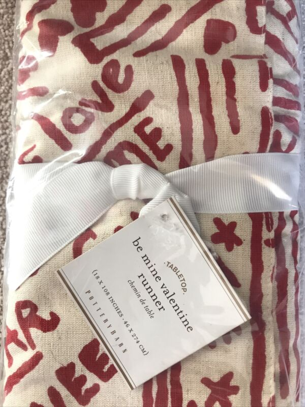 Pottery Barn Be Mine Valentine Runner - Rare Collectible! NWT