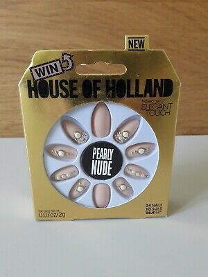 HOUSE OF HOLLAND False Nails - Pearly Nude (10 Sizes - 24 Nails)