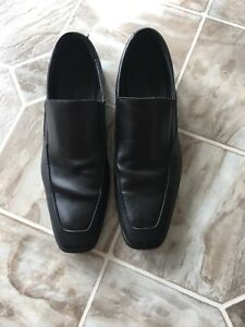 Black Leather Men's Dress Shoes