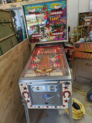 BALLY FLIP FLOP  PINBALL MACHINE EM plays decent. Can deliver or ship Wooster OH