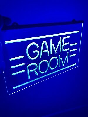 GAME ROOM LED Light Neon Sign for Game Room, Office, Bar, Man Cave, Arcade Room.