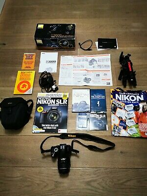 Nikon D3000 DSLR Camera + 18-55mm VR Lens Kit, Battery, Charger, Bag + More!