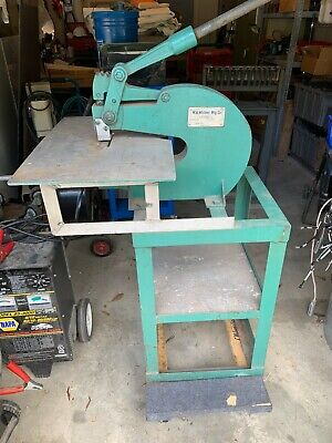 W A Whitney Model 92 Floor Standing Manual Punch Wextended Work Table