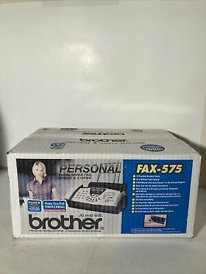 Brother Fax-575 Personal Fax Phone And Copier Machine Compact Brand New Sealed