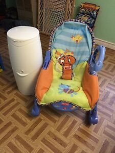 Diaper Genie & Baby chair