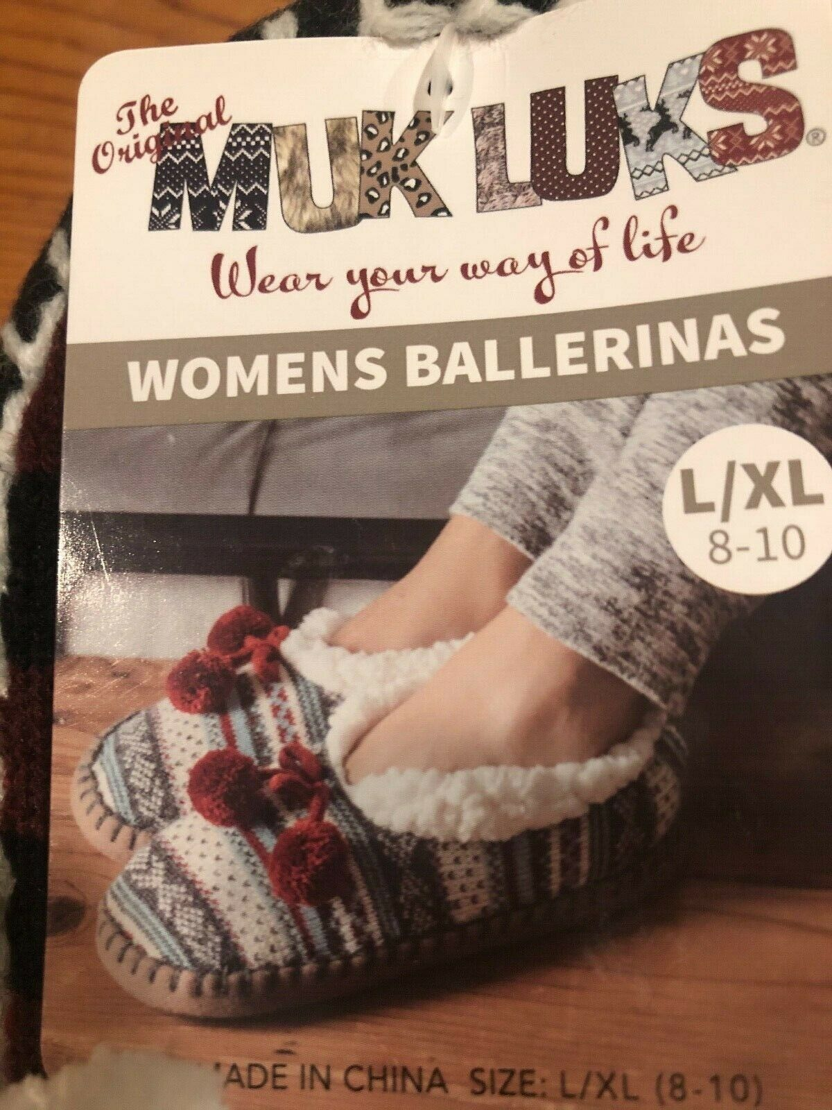 slippers socks grippers ballerina style sherpa lined