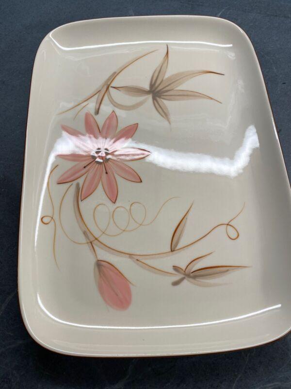 "Winfield Passion Flower Rectangular Serving Platter 14 1/2"" By 10 1/4"" Vintage"