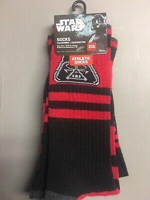 (2) Pair Star Wars Vader Socks - NWT