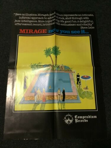 VINTAGE 1977 MIRAGE NOW YOU SEE IT PROMO POSTER