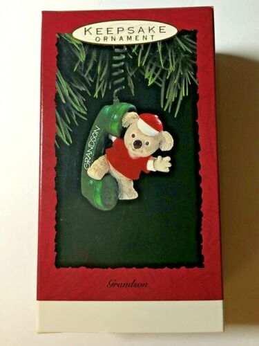 Hallmark Keepsake Ornament 1993 Grandson Bear w/ Phone Receiver