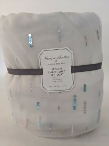 Pottery Barn Kids Monique Lhuillier Sequin Embellished twin bed skirt