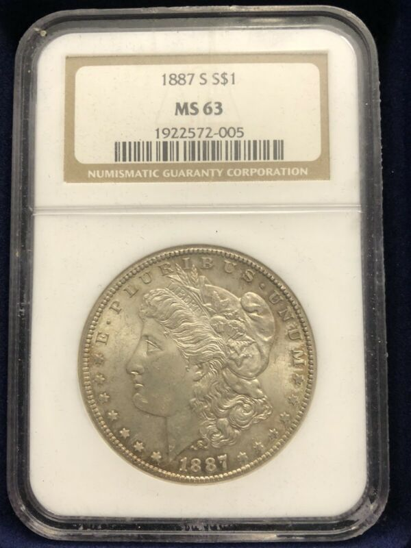 1887-S Morgan Silver Dollar $1 NGC MS63