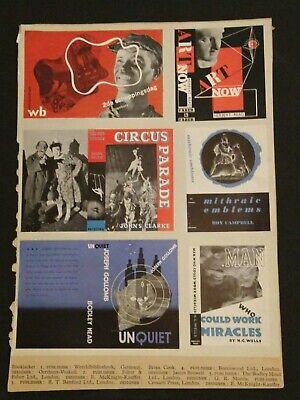 1937 Graphic Design Mock-ups for Modern Publicity, International Designers