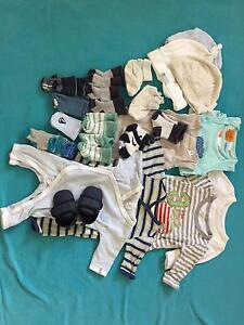 Bundle 0000 baby boys clothes bodysuits, tops, socks, shoes Manly Vale Manly Area Preview
