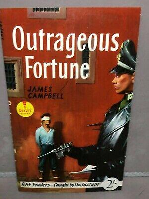 Vintage JAMES CAMPBELL OUTRAGEOUS FORTUNE War Fiction PB BOOK