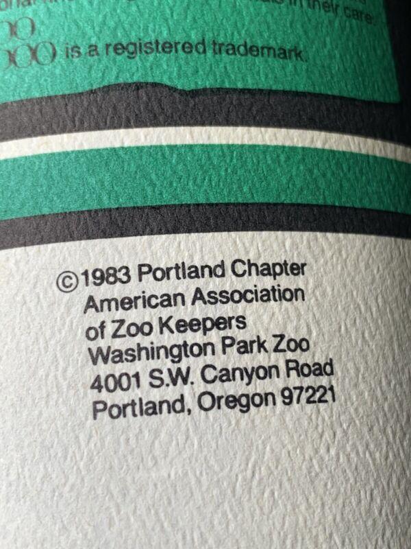 Vintage 1983 Washington Park Zoo Portland Oregon Elephants Zoo Doo In A Can