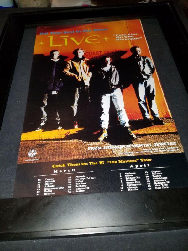 Live Pain Lies On The Riverside Rare Original Radio Promo Poster Ad Framed!