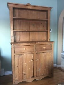 Antique buffet and hutch