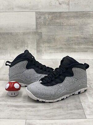 Nike Air Jordan X 10 Retro Cement Light Smoke Grey Black Red 310805-062 SIZE 7.5