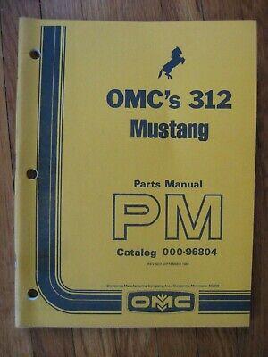 Mustang Omc 312 Skid Loader Parts Catalog Manual
