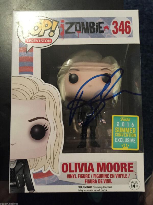 Izombie Rose McIver Olivia Moore Funko Pop Vinyl Autographed Signed COA B