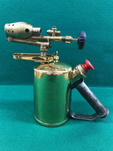 Vintage G. BARTHEL - BM 424 - Benzine / Gasoline Brass Blow Torch - Germany