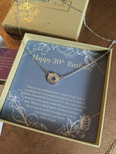 Dear Ava 30th Birthday Compass Gift Necklace