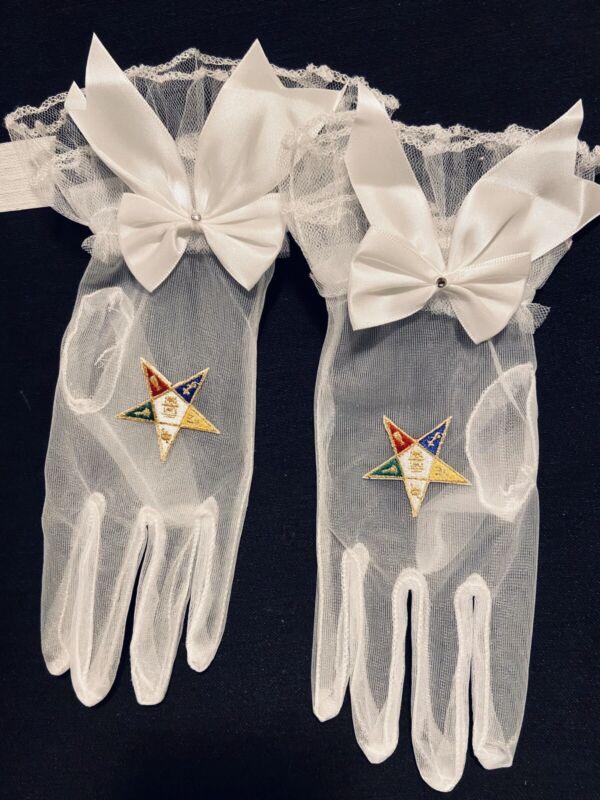 Masonic Eastern Star OES Gloves