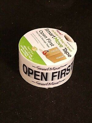 Smart Move Packing Moving Pre-printed Tape 30 Yds Office Fragile Open First